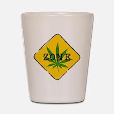 Cannabis Zone Shot Glass