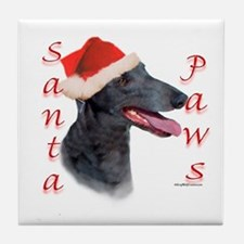 Santa Paws Greyhound Tile Coaster