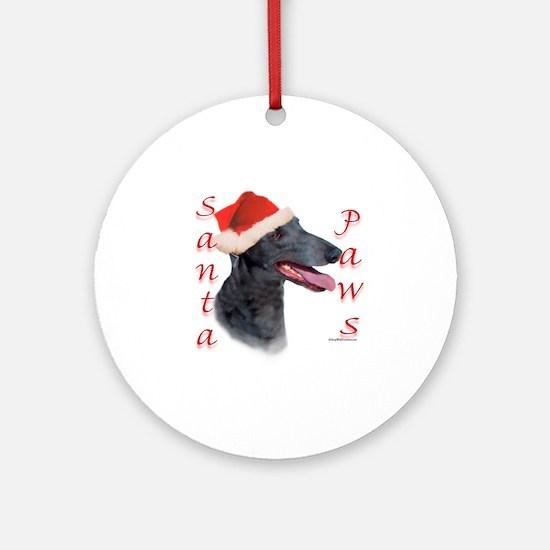 Santa Paws Greyhound Ornament (Round)