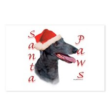 Santa Paws Greyhound Postcards (Package of 8)