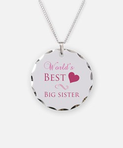 World's Best Big Sister (Heart) Necklace