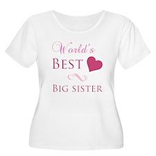 World's Best Big Sister (Heart) T-Shirt