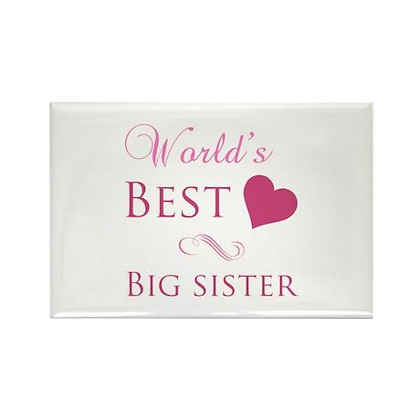 World's Best Big Sister (Heart) Rectangle Magnet