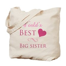 World's Best Big Sister (Heart) Tote Bag