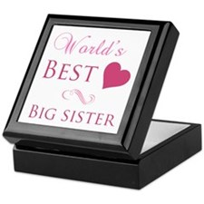 World's Best Big Sister (Heart) Keepsake Box