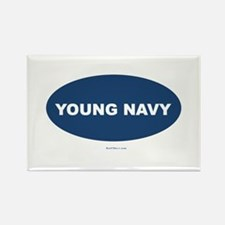 Young Navy Rectangle Magnet