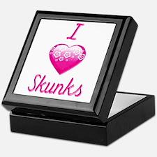 I Love/Heart Skunks Keepsake Box