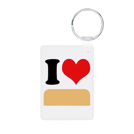 I heart twinkies Aluminum Photo Keychain