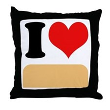 I heart twinkies Throw Pillow