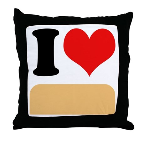 I heart twinkies Throw Pillow