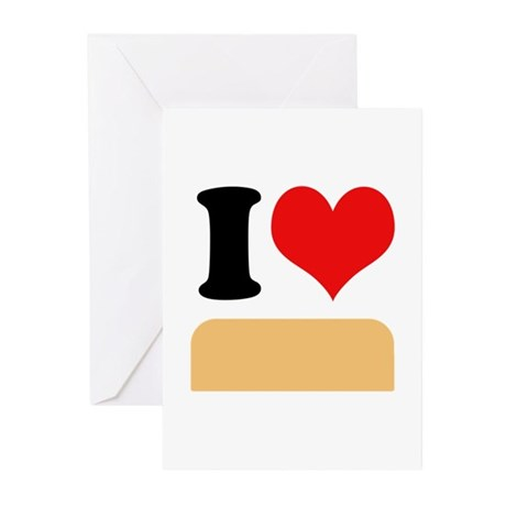 I heart twinkies Greeting Cards (Pk of 20)