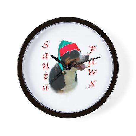 Santa Paws Swissy Wall Clock