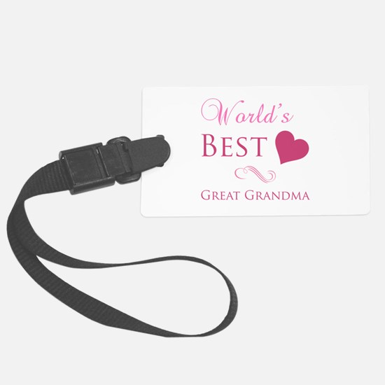 World's Best Great Grandma (Heart) Luggage Tag