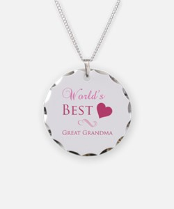 World's Best Great Grandma (Heart) Necklace
