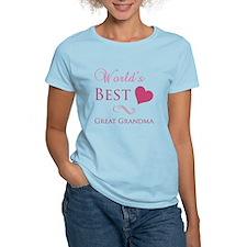 World's Best Great Grandma (Heart) T-Shirt