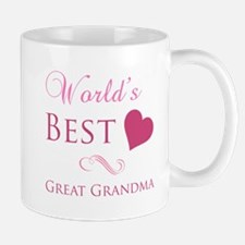 World's Best Great Grandma (Heart) Mug