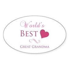 World's Best Great Grandma (Heart) Decal