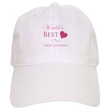 World's Best Great Grandma (Heart) Baseball Cap