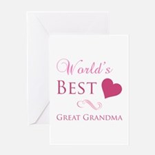 World's Best Great Grandma (Heart) Greeting Card