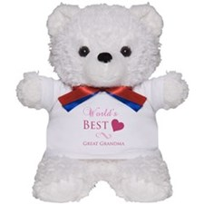World's Best Great Grandma (Heart) Teddy Bear