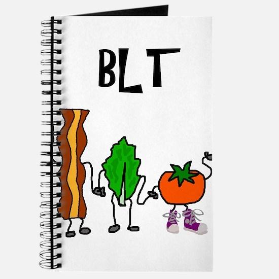 Bacon Lettuce and Tomato Cartoon Journal