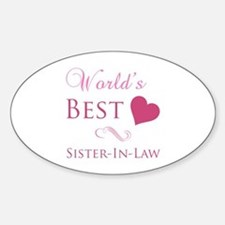 World's Best Sister-In-Law (Heart) Decal