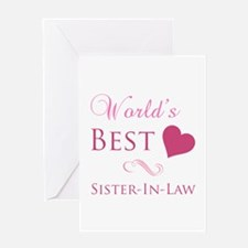 World's Best Sister-In-Law (Heart) Greeting Card