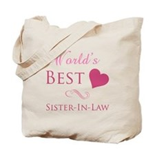 World's Best Sister-In-Law (Heart) Tote Bag