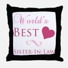 World's Best Sister-In-Law (Heart) Throw Pillow