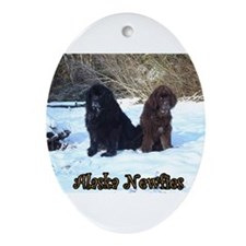 Alaska Newfie Ornament (Oval)