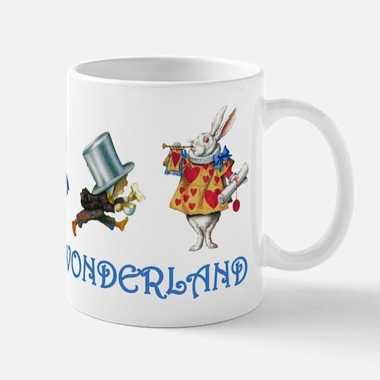 Alice and Her Friends in Wonderland Mug