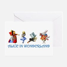 Alice and Her Friends in Wonderland Greeting Card