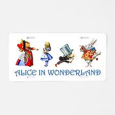 Alice and Her Friends in Wonderland Aluminum Licen