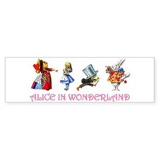 Alice and Her Friends in Wonderland Bumper Sticker