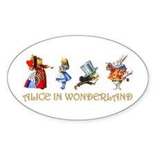 Alice and Her Friends in Wonderland Decal