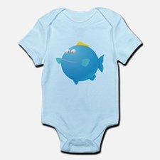 Blue Puffer Fish Kids Shirt Infant Bodysuit