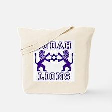 18 Lions of Judah Tote Bag