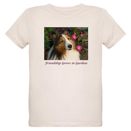 Friendship Grows In Gardens Organic Kids T-Shirt