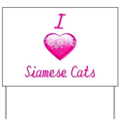 I Love/Heart Siamese Cats Yard Sign