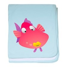 Pink Fish Kids Shirt baby blanket