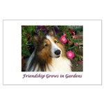 Friendship Grows In Gardens Large Poster