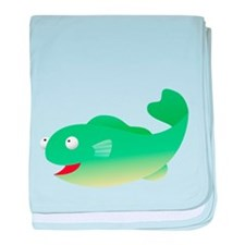 Green Fish Kids Shirt baby blanket