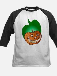 Pumpkin Shadow Kids Baseball Jersey