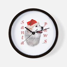 Santa Paws Pyrenees Wall Clock