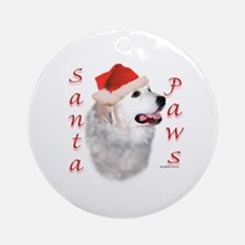 Santa Paws Pyrenees Ornament (Round)
