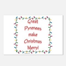 Merry Pyrenees Postcards (Package of 8)