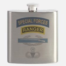 SF Ranger CIB Airborne Master Flask