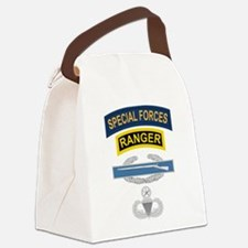 SF Ranger CIB Airborne Master Canvas Lunch Bag