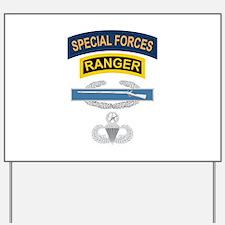 SF Ranger CIB Airborne Master Yard Sign
