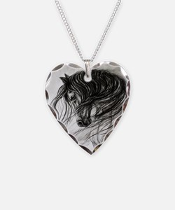 Mane Dance art Necklace Heart Charm